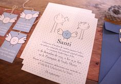 Las invitaciones de bautizo del pequeño Santi. #printthelegend #bautizo #invitaciones