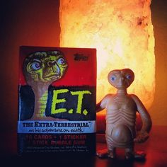 """""""E.T. has been my #nickname since I was kid... got this in the studio as a reminder."""" #ET #extraterrestrial #topps #alien #space #scifi"""