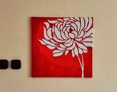 Acrilyc flower painting