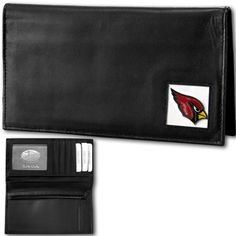 """Checkout our #LicensedGear products FREE SHIPPING + 10% OFF Coupon Code """"Official"""" Arizona Cardinals Deluxe Leather Checkbook Cover - Officially licensed NFL product Licensee: Siskiyou Buckle Genuine fine grain leather Fits top and side loaded checkbooks Credit card slots, windowed ID slot and large zippered pocket Metal Arizona Cardinals emblem with enameled team colors - Price: $27.00. Buy now at https://officiallylicensedgear.com/arizona-cardinals-deluxe-leather-checkbook-cover-fdck035bx"""