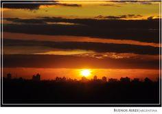 Atardecer en Aires -Buenos Aires