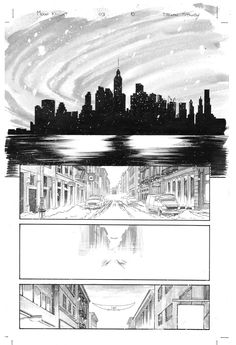 My very first page of original comic art. It's page 10 from MOON KNIGHT Vol 7 Issue #3. Pencils and Inks by Declan Shalvey