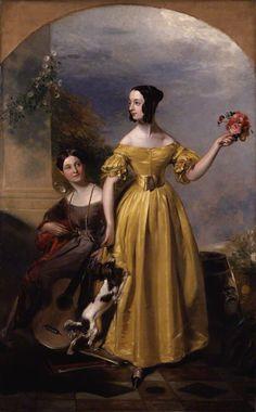 Alexina Nesbit Sandford, née Lindsay, and Catherine Hepburne Lindsay by Andrew Geddes, exhibited in 1838