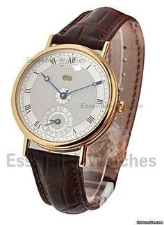 Breguet Classique 35mm Perpetual Calendar - Yellow Gold on Strap with Silver Dial