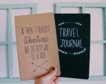 Adventure AND Travel Journals   Pack of Two  