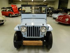 1949 CJ2A Willy's Jeep---not necessarily this color, I just live these old jeeps!