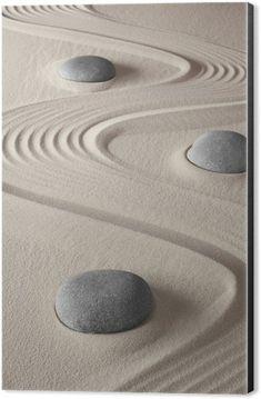zen garden Aluminium Print (Dibond) - iStaging