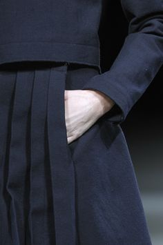 Knife Pleats - structured simplicity; skirt close up; fashion details // Yohji Yamamoto