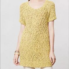Selling this Anthropologie MOTH yellow knit sweater in my Poshmark closet! My username is: krobbins124. #shopmycloset #poshmark #fashion #shopping #style #forsale #Anthropologie #Sweaters