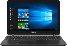 "Asus - 2-in-1 15.6"" 4K UHD Touch-Screen Laptop - Intel Core i7 - 16GB Memory - Nvidia GeForce GTX 950M - 2TB HDD + 512GB SSD - Chocolate black aluminum hairline with dark copper, Q534UX-BHI7T19"
