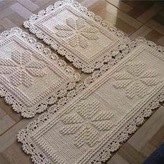 Round area rug 625 in crochet rug crochet decor doily Crochet Granny, Crochet Baby, Free Crochet, Doily Rug, Crochet Doilies, Crochet Flower Patterns, Crochet Flowers, Rope Rug, Hand Knitting