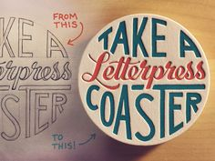 Hand Lettering Sketch to Vector Process Video http://seanw.es/bzkR