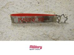 """This handcrafted key chain is proudly Made in America. Our patriotic key chain is just the right size so you'll never lose your keys again! Moreover, this US Marine Corps Sister key chain is the perfect item to show off your military pride. Notice the crystal jewel, just a little added bling!  Handcrafted from genuine military fabric and strong nylon webbing, this key chain will stand the test of time. Excellent gift for yourself and for your Military friends and family members!!! 1""""x6"""""""