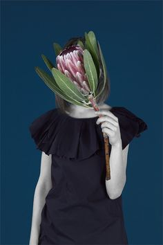 Leafy photography | 'Natural' series by Olya Oleinic