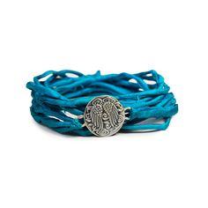 I love the Dream Mullick Silk Wrap Charm Bracelet from LittleBlackBag