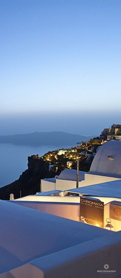 Views over the Caldera and Oia village from the Chromata Hotel in Santorini