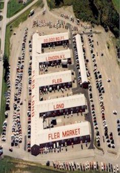 Aerial view of London Flea Market, London, KY