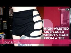 High-waisted side-laced hotpants from tee - YouTube