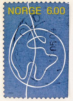 Norge postage 6.00 kr. - via Flickr) - R_26.02.2014 - norwegian stamp, Norway
