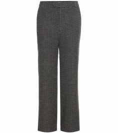 Duncan houndstooth wool-blend trousers | Ganni