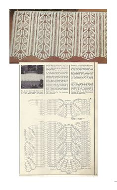 World crochet: Curtain 27 Crochet Borders, Crochet Chart, Filet Crochet, Irish Crochet, Knit Crochet, Crochet Patterns, Crochet Buttons, Thread Crochet, Lace Knitting