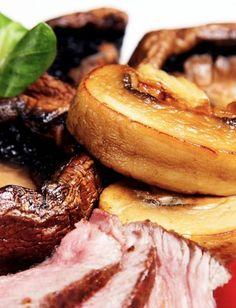 Maso a houby grill