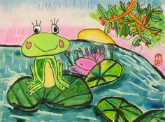 WINNER - Frogs Are Green Kids' Art Contest - Age grp 3-6