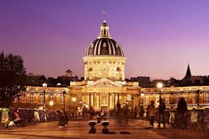 The Institut de France from the Pont des Arts. The Institut de France is a French learned society, grouping five acadcmies, the most famous of which i. France Photography, Paris France, Beverly Hills, Big Ben, Fine Art America, Taj Mahal, Instagram Images, Building, Travel