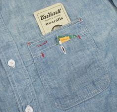 chest pocket detail