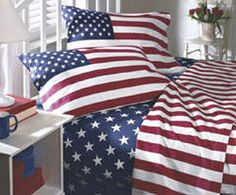 3 piece flag bed set. For making whoopie on?