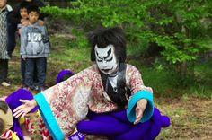 07 Akita Hachirogata town Child Gannin Dance 2015 2015年5月5日 八郎潟町 一日市神社 子供願人踊り