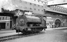 Swansea street scene October 1959 by John Wiltshire Swansea Wales, Durham Museum, Liverpool Docks, Steam Railway, Old Trains, British Rail, Model Train Layouts, Steam Engine, Steam Locomotive