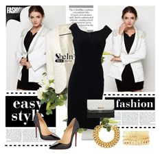 """""""SHEIN WHITE BLAZER"""" by narcisaaa ❤ liked on Polyvore featuring мода, Dolce&Gabbana, Christian Louboutin, Charlotte Russe, Dorothy Perkins, A.V. Max и shein"""
