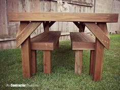 Plans: Picnic Table Plans Detached Benches
