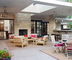 LOVE this large outdoor area that seems like indoors but has the awesome feel of outdoors...a person can dream.