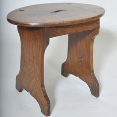 "Antique Oval Elm Stool Table  Width: 21"" / 54 cms Depth: 14"" / 36 cms Height: 18"" / 48 cms"