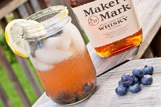 Blueberry Bourbon Cocktail - or try it with almost any fresh Berry!