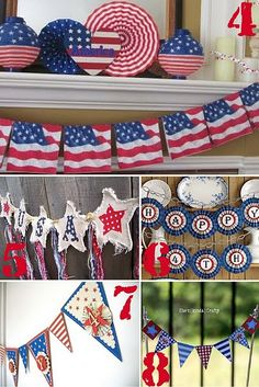 stars and stripes crafts....so cute for the 4th of July!