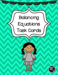 This is a set of 42 colorful task cards for balancing equations.  Students must determine the unknown in an equation to make the sides equal.  Some of the addition equations have 3 addends.  Cards are great for warm-ups, centers, or class practice and help develop number sense and mental math skills.Thanks for looking and please follow me for more fun, engaging math products!