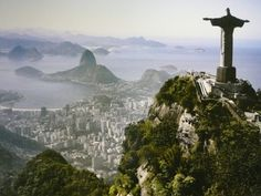 The harbour at Rio de Janeiro - one of the Seven Natural Wonders of the World.