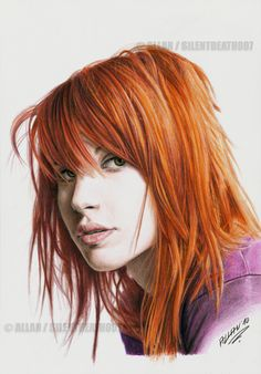 :HAYLEY WILLIAMS: by Allen (portraits w/graphite pencils and coloured pencils)