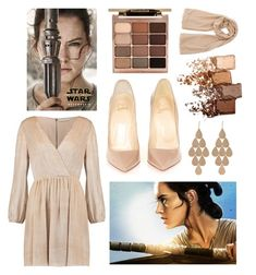 """""""Rey: Formal"""" by crown-princess-ani ❤ liked on Polyvore featuring Alice + Olivia, Christian Louboutin, Irene Neuwirth, Stila and Maybelline"""