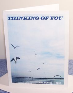 PHOTO NOTE CARD  Seagull Aerial Dance by CreativeXpression1, $4.00