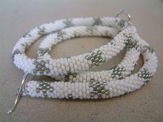 Wedding Necklace Bead Crochet Rope Snowflake in by LanmomOriginals