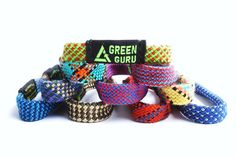 We upcycle climbing ropes, giving them another life they rightfully deserve as really cool bracelets. Now they promote your eco-adventure lifestyle with fun, multi-colored designs. This package contai