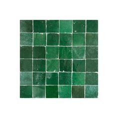 Green Moroccan ceramic tile | Emerald Green clay tiles Moroccan | Green Zillij