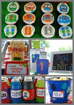 Robot Birthday Party theme!  Everything you need for a perfect BOY birthday. Party by http://www.lillypauldesigns.com