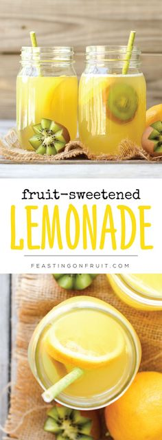 Lemonade sweetened naturally! No sugar. No artificial sweeteners. All it takes is fruit juice makes this summertime sip healthy and sweet!
