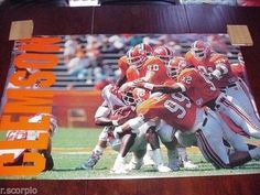 1980's Clemson Tigers VERY RARE 24 X 36 Collegiate Action Poster vs. Maryland   #1758396001