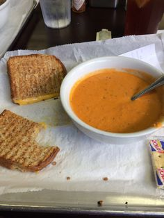 Yummy soups and sandwiches and salads. CHEAP